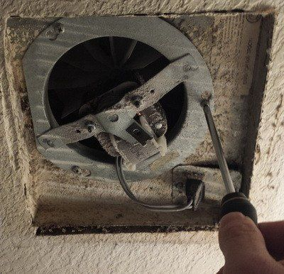 Remove Or Loosen The Screws Holding The Fan Motor Assembly To The Custom Small Bathroom Fans Design Decoration