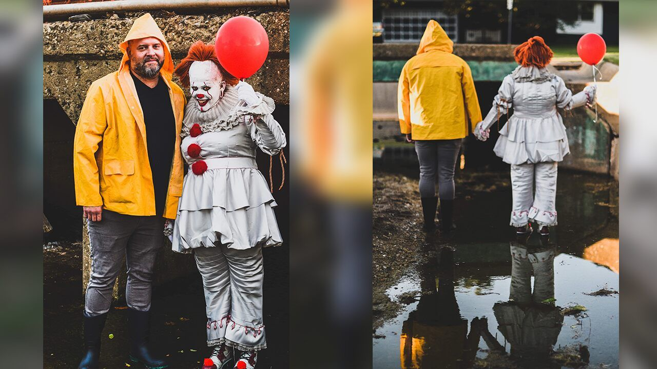 Oklahoma couple stages 'It' photo shoot reenacting scenes from the creepy film #scenesfrommovies