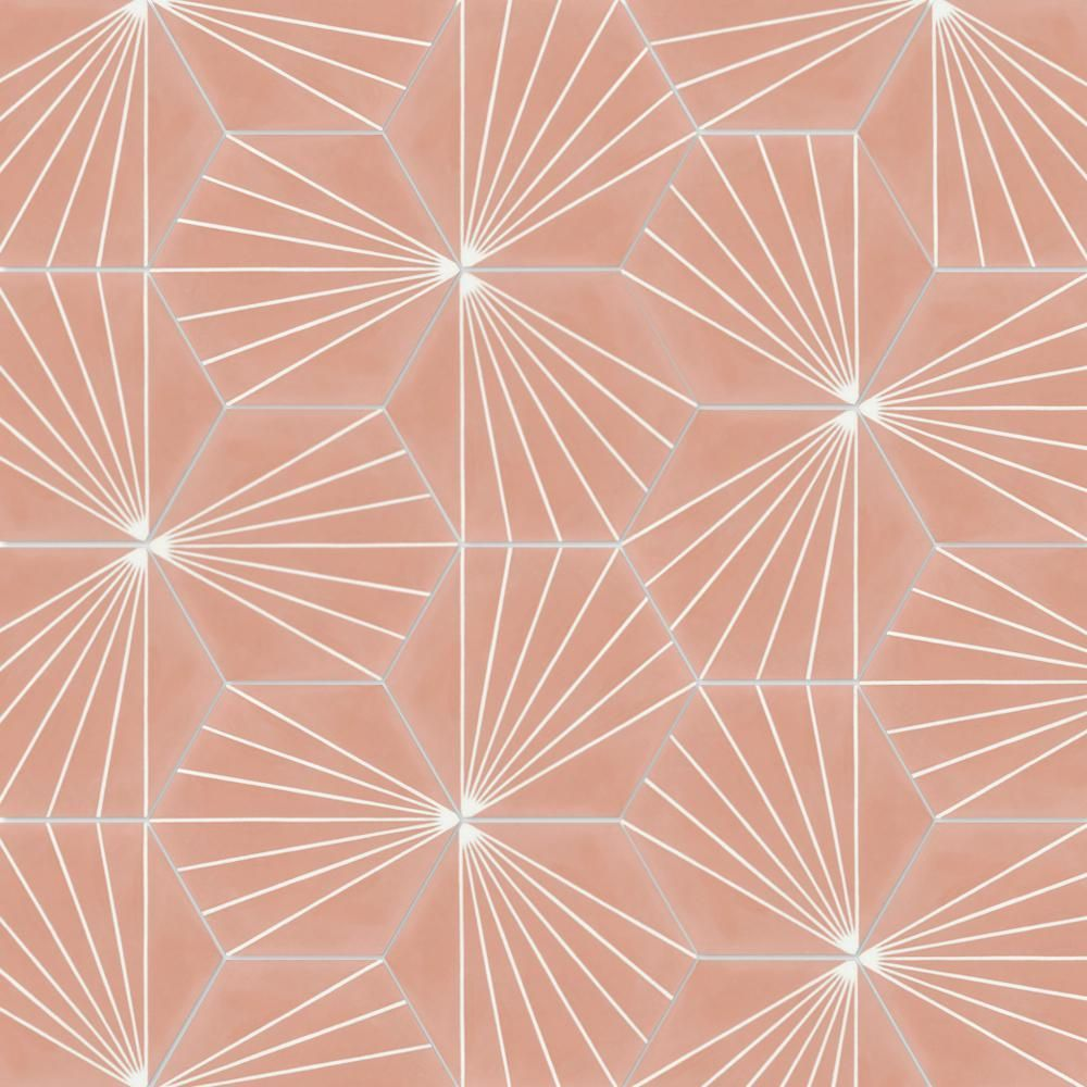 Villa Lagoon Tile Spark C Coral Ps 7 7 8 In X 7 7 8 In Cement Handmade Floor And Wall Tile Sb20rh16 Spar3 Villa Lagoon Tile Wall Tiles Scallop Tile Bathroom