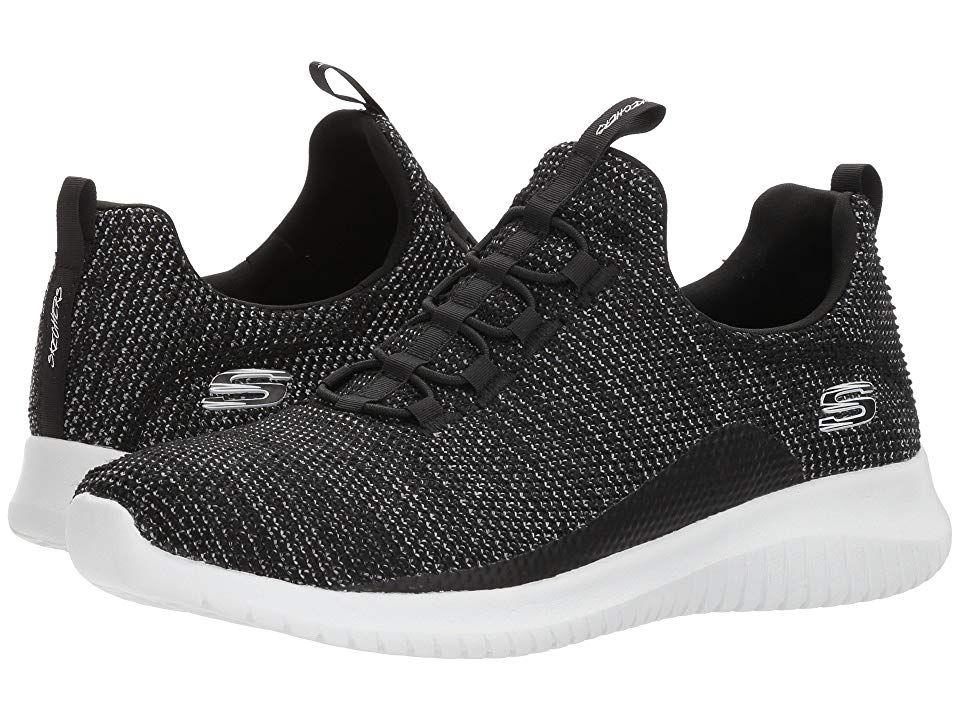 Skechers Ultra Flex Capsule Black White Women S Shoes Devour