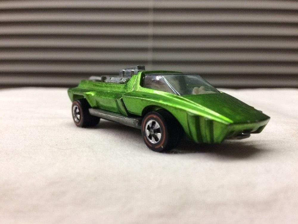 VTG Hot Wheels Redline  HAIRY HAULER 1969 Mattell INC. U.S.A. Green #HOTWHEELS #Custom