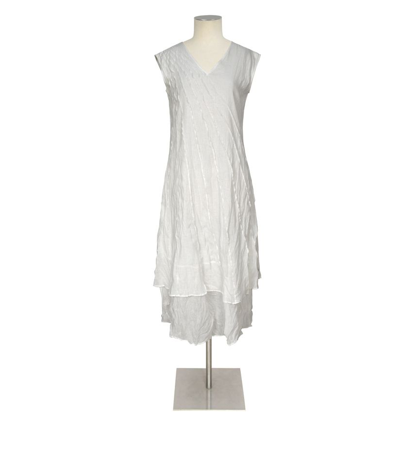COLORS FOR THE SUMMER Capsule - Women - JUL 2014 / PLEATED DOROTHY DRESS_WHITE https://www.facebook.com/ValerieGregoriMcKenzie/photos/a.746111402116524.1073741911.155713031156367/746112825449715/?type=3&theater