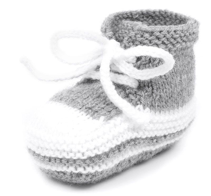 Stricken für den Nachwuchsfan: Babyturnschuhe | Stricken | Pinterest ...