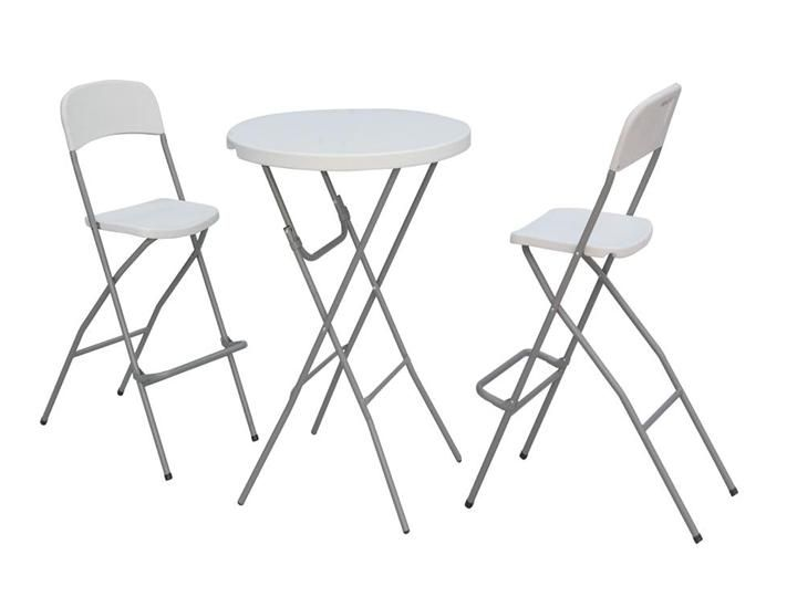 magnificent tall folding chair with tall folding table and chair