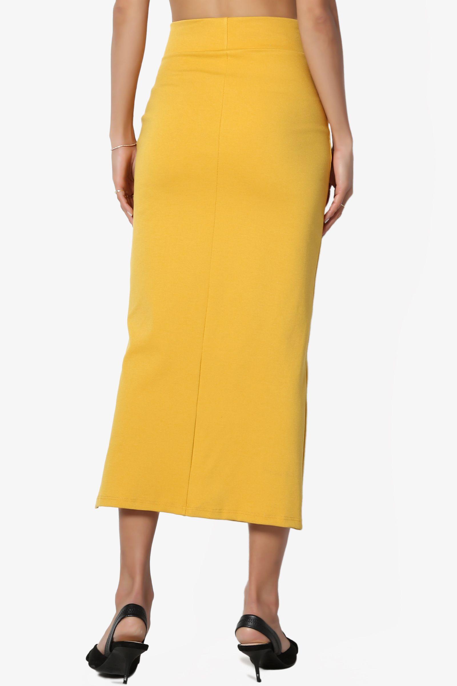 77055d1028 TheMogan Women's S~3X Side Slit Ponte Knit High Waist Mid Calf Long Pencil  Skirt #Ad #Slit, #SPONSORED, #Ponte, #Knit