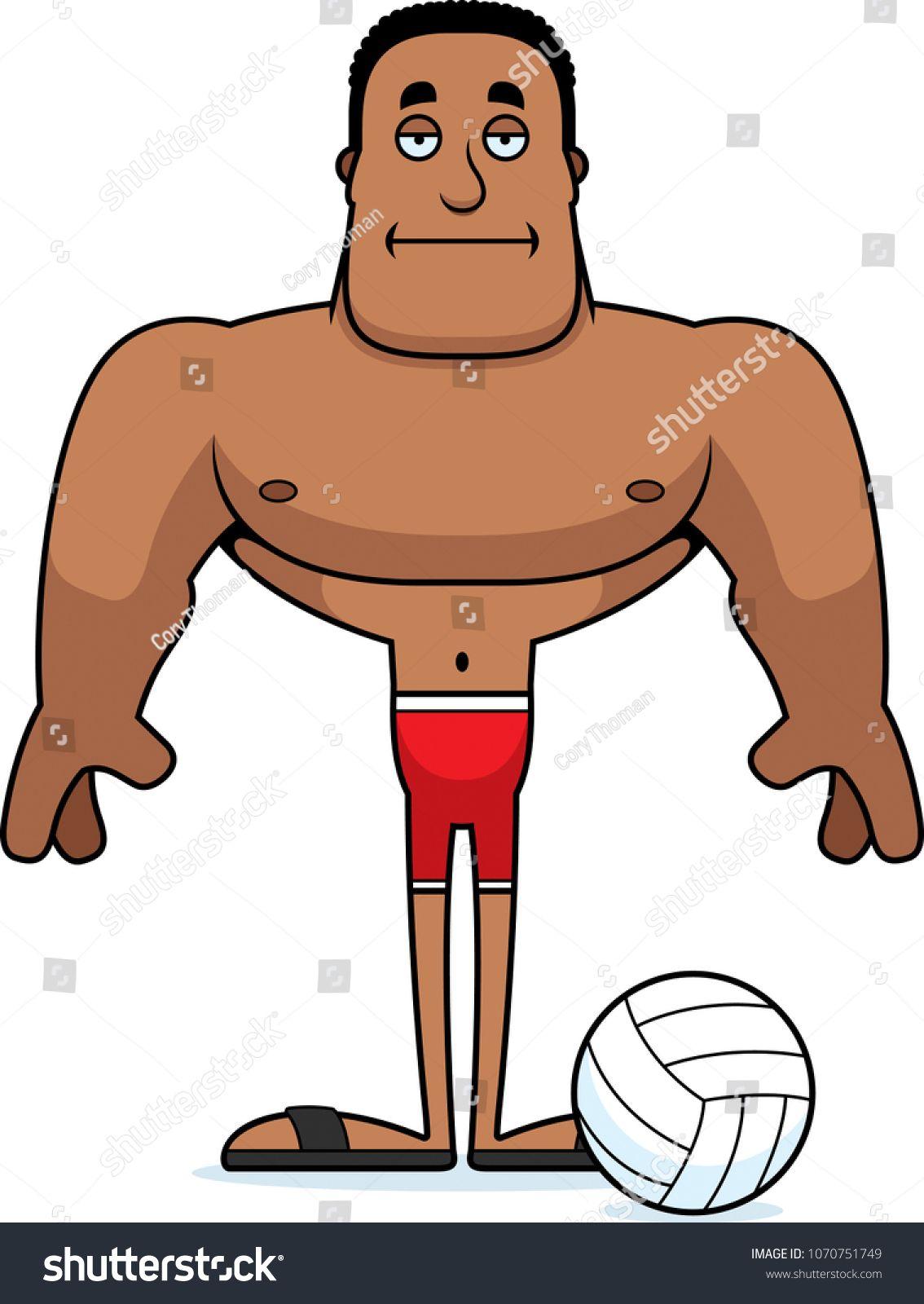 A cartoon beach volleyball player looking bored. #Ad , #ad, #beach#cartoon#volleyball#bored