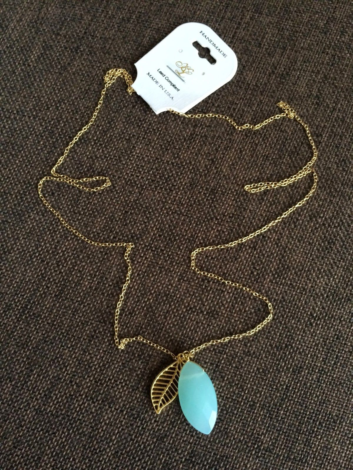 Bay to baubles gonzo stone and leaf necklace my style pinterest