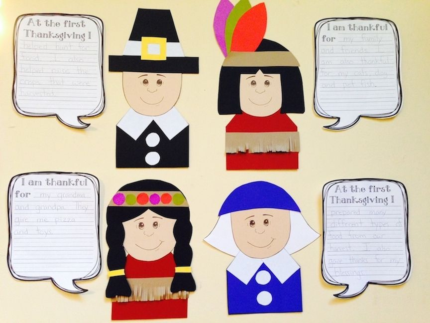 Fun Crafts And Writing Prompts For Thanksgiving Pilgrim Native American Boys Girls