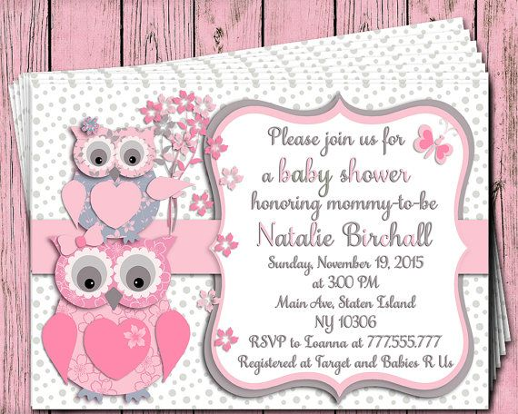 Pink fuchsia grey owl baby shower printable invitation baby girl pink fuchsia grey owl baby shower printable invitation baby girl digital invite personalized invitation birthday party filmwisefo Choice Image
