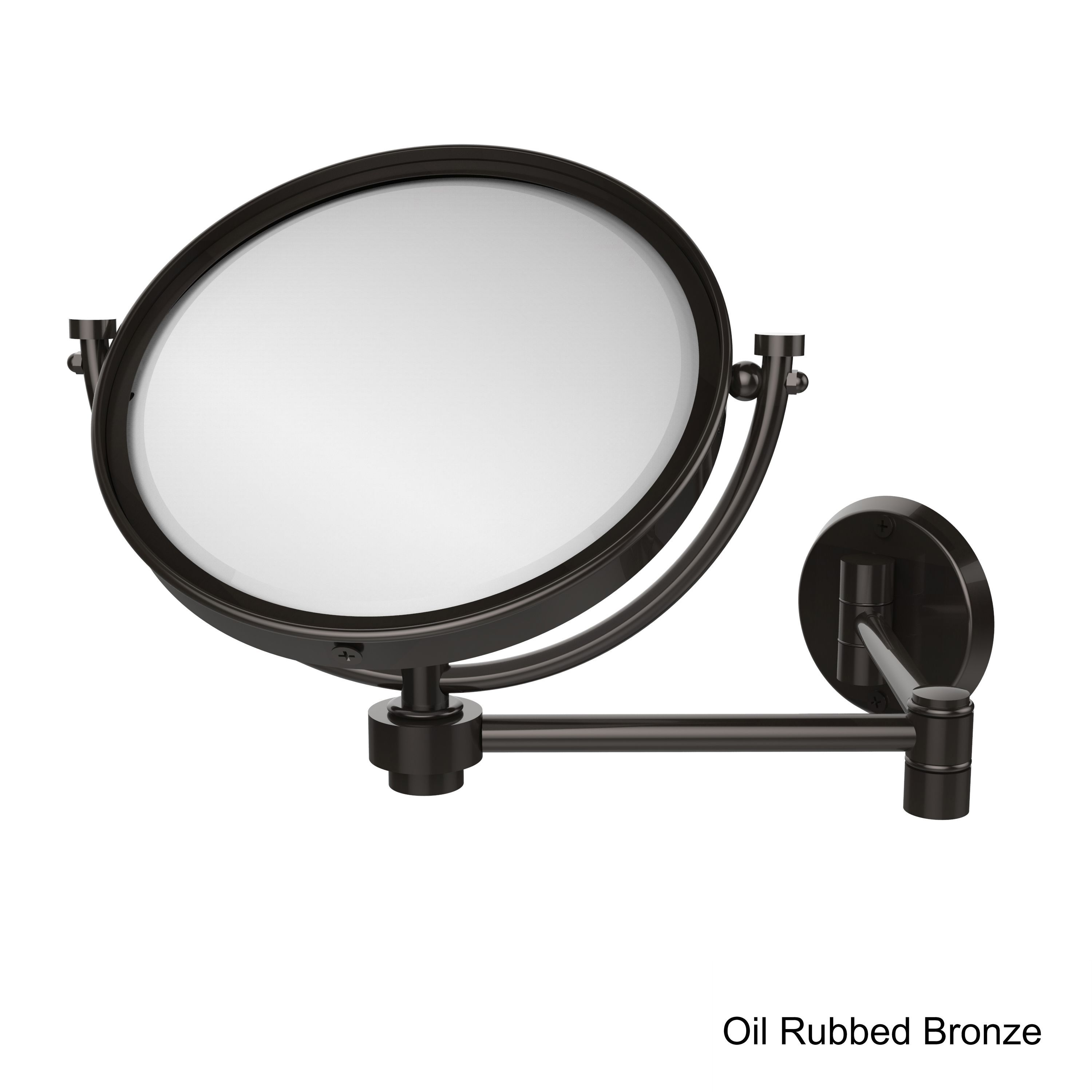 Allied Brass 8-inch Wall-mounted Extending Make-up Mirror with 5X ...
