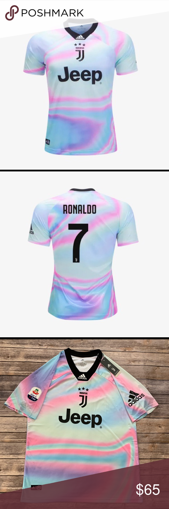 bc99c800b Adidas Ronaldo Juventus EA Sports Jersey 18 19 Adidas Ronaldo Juventus EA  Sports Jersey 18 19. The latest of the limited edition Digital 4th kits  made in ...