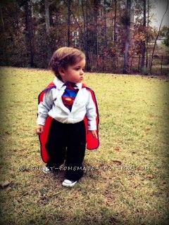 Coolest Clark Kent Homemade Toddler Costume ...This website is the Pinterest of costumes