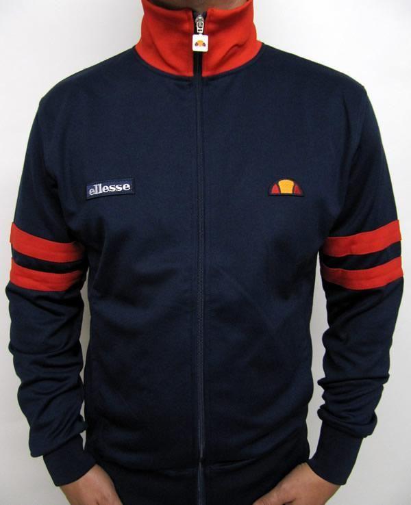 Ellesse Roma Track Top in Navy/Red,ellesse roma tracksuit jacket