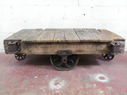 Antique lumber cart makes a great coffee table For the Home