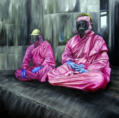 "Raphaël Bouyer, ""the magenta monks"" on ArtStack #raphael-bouyer #art"