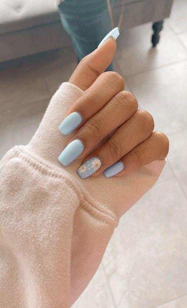 Nail Desing Short Acrylic Nails Designs Blue Acrylic Nails Simple Acrylic Nails