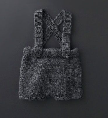 modele tricot short bebe