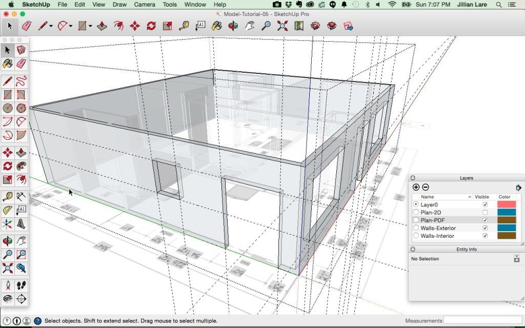 Draw A 3d House Model In Sketchup From A Floor Plan Floor Plans