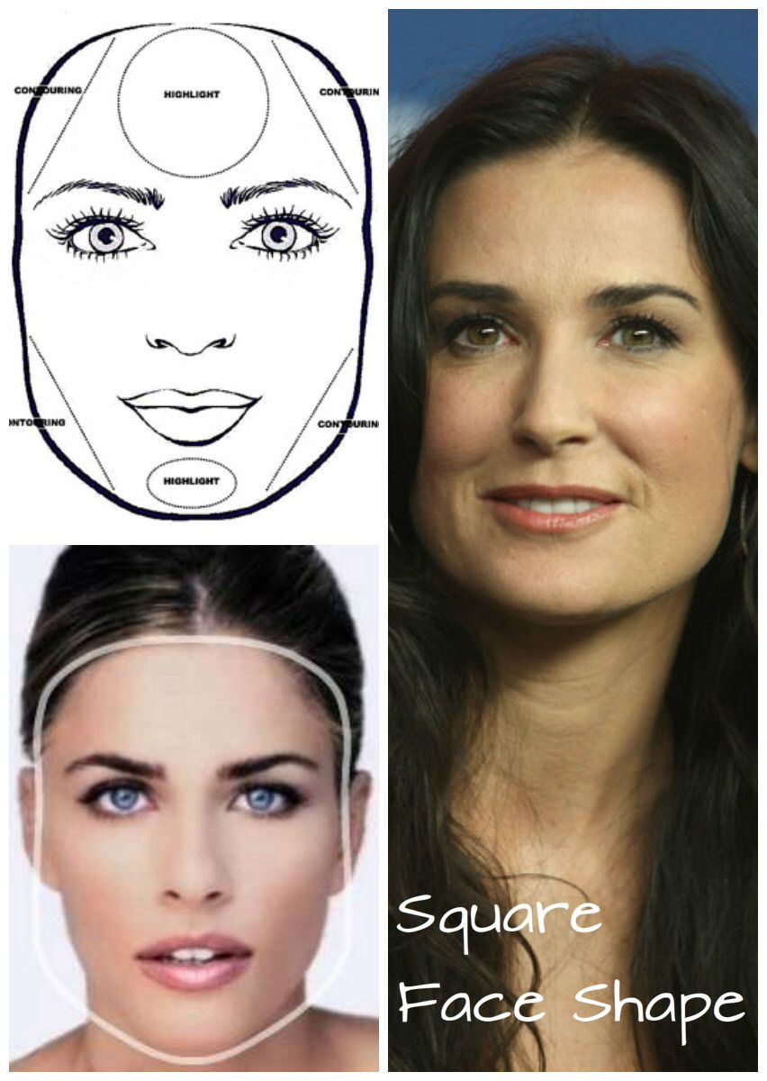 If You Have The Square Face Shape The Sides Of Your Face Are