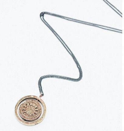 Rachel Entwistle Alchemist's Rotary Pendant in Bronze @Urban Outfitters