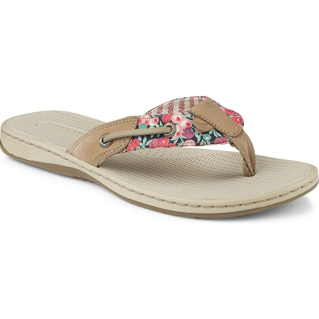 5fd4cdf55 Women s Seafish Liberty Print Sandal in Linen   Washed Red by Sperry ...