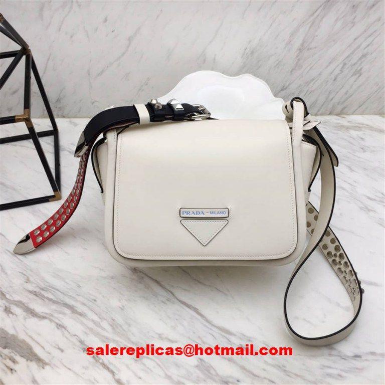 8c07abdc292303 Prada concept calf leather bag 1BD123 white | Luxury Handbags in ...