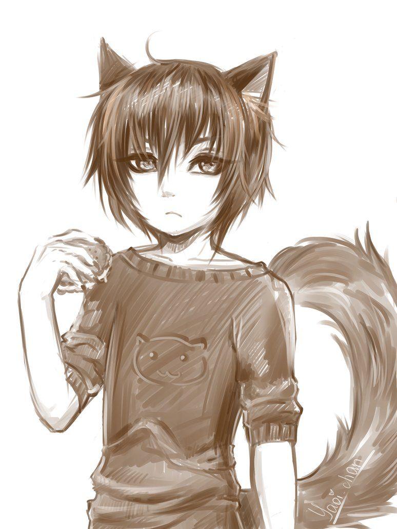 Little Wolf By Kikukikaku Wolf Ears Anime Anime Wolf