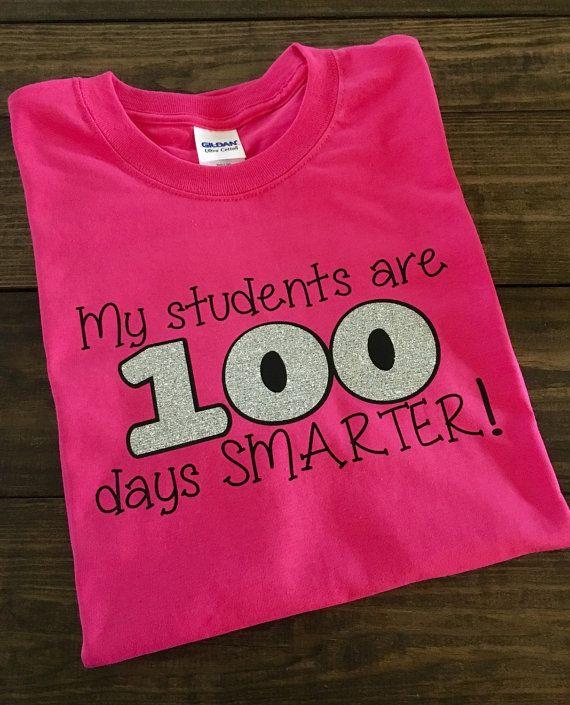 100th Day Teacher Shirt Teacher Shirt My Students Are 100 Days