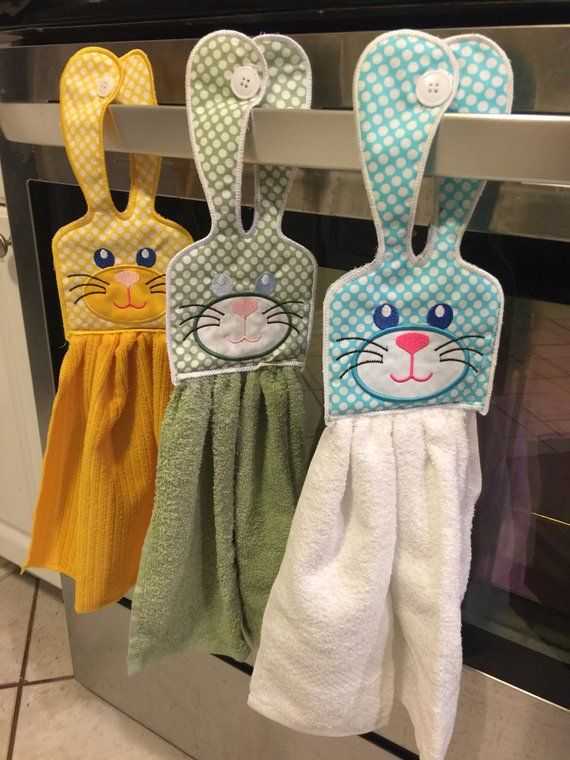 Hanging Easter Bunny towel