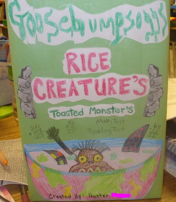 Third grade cereal box book report teaching reading for Cereal box project for school