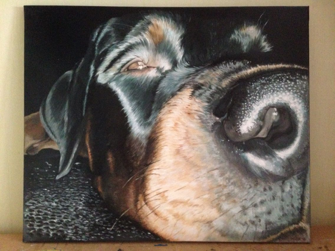Hond, dog, painting