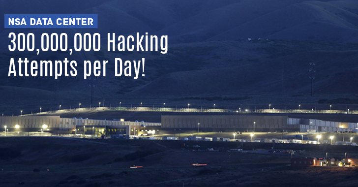 Nsa Data Center Experiencing 300 Million Hacking Attempts Per Day Cyber Security Data Center Cyber Attack
