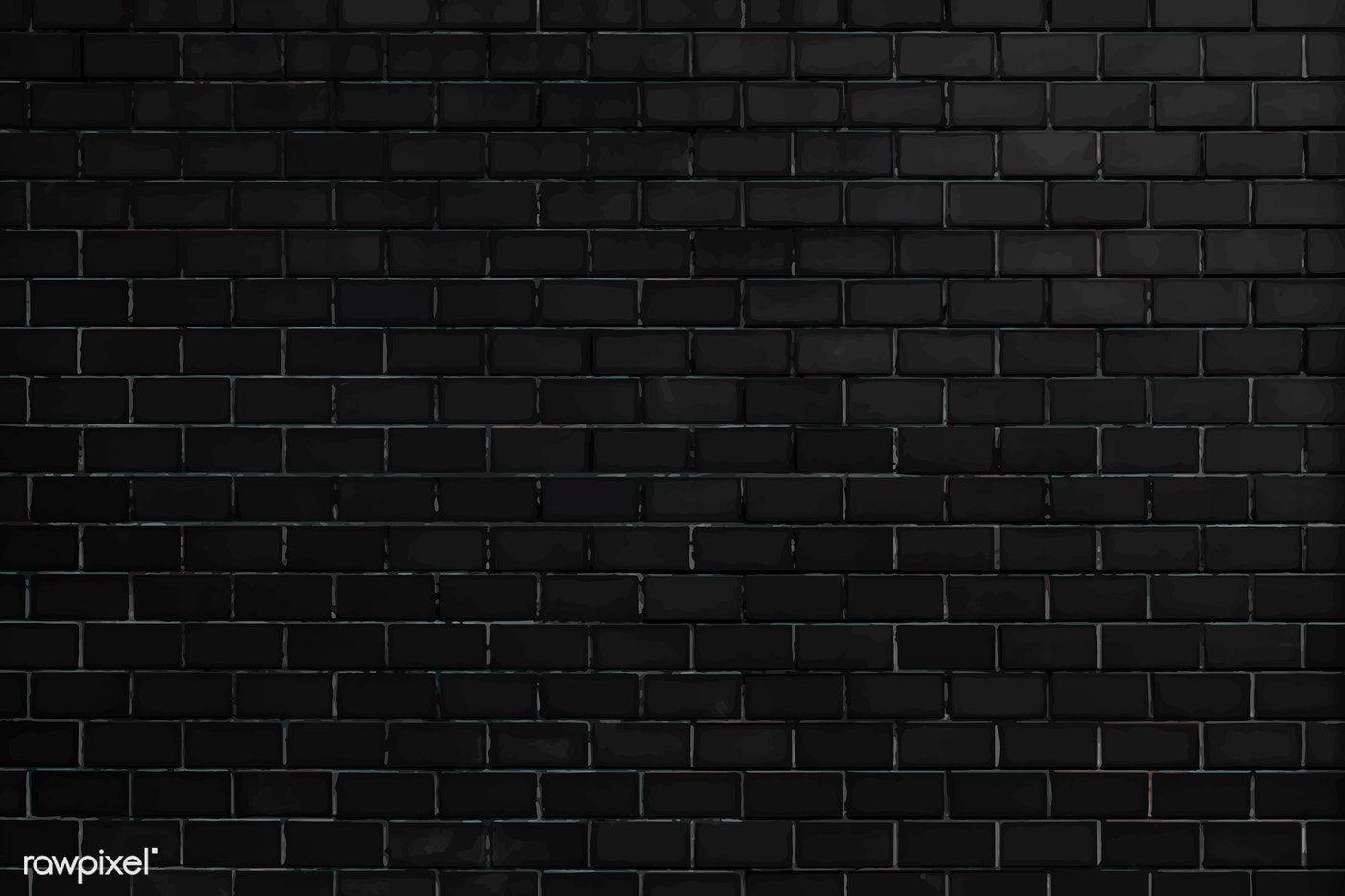 Black Brick Wall Textured Background Free Image By Rawpixel Com Black Brick Wall Black Brick Textured Background