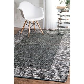 Shop for nuLOOM Handmade Leather Cotton Grey Rug (7'6 x 9'6). Get free shipping at Overstock.com - Your Online Home Decor Outlet Store! Get 5% in rewards with Club O! - 19517567