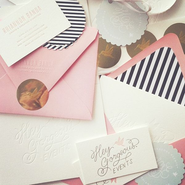 Wedding Branding Ideas: Love The Pink With Black And White Stripes. Hey Gorgeous