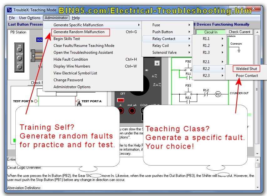 troublex electrical troubleshooting simulator (electricaltroublex electrical troubleshooting simulator (electrical troubleshooting software to teaching and testing )