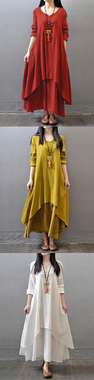 Vintage Women Long Maxi Dress