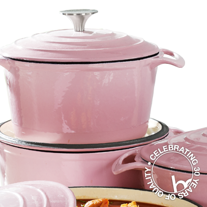 Premier Pink Cast Iron Cookware Set