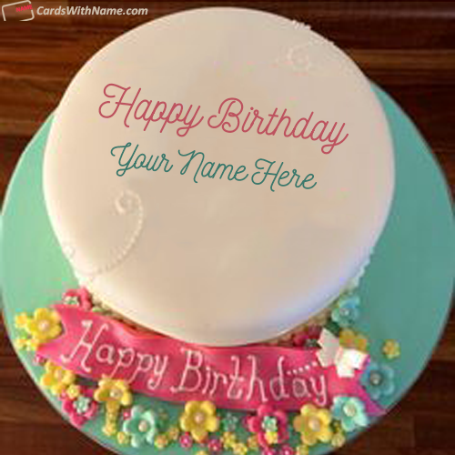 Beautiful Birthday Cake For Sister With Name Edit Cakes With Name