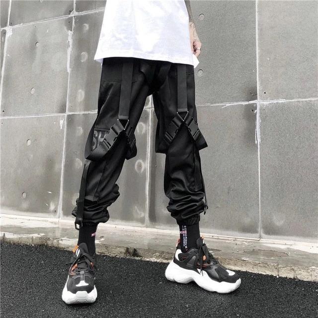 Tactical Street Hip  Cargo Black Fashion Trousers Harem Hop Joggers Men Pants