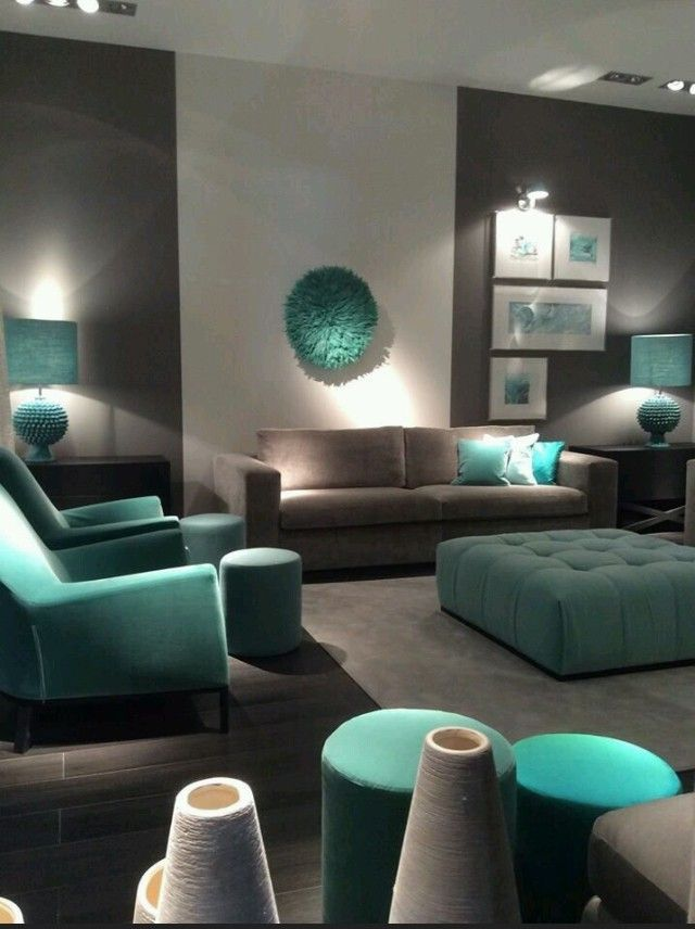 Pin By Anta El Qamar On Verde Tiffany Turquoise Mon Amour Living Room Turquoise Living Room Color Combination Teal Living Rooms