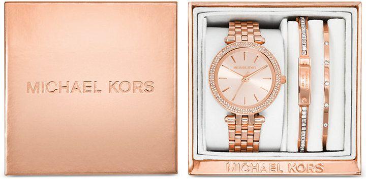 Michael Kors Women's Mini Darci Rose Gold-Tone Stainless Steel ...