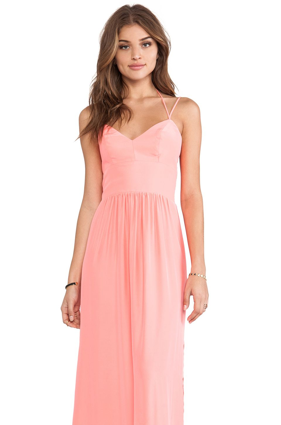 Amanda Uprichard Slit Maxi Gown in Neon Ballet from REVOLVEclothing ...
