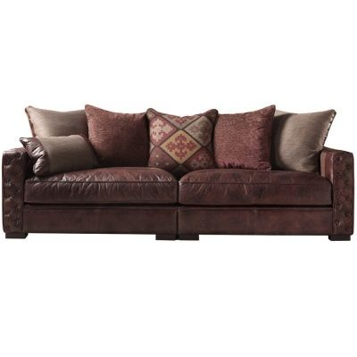 The Laurence Maxi Sofa Split Large Leather And Fabric