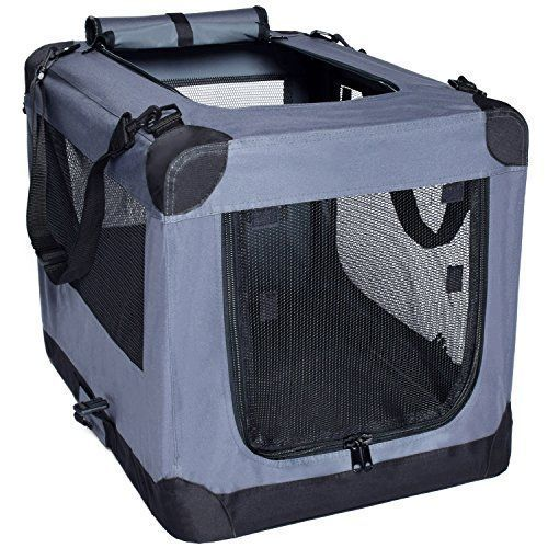 Arf Pets 3 Door Folding Crate With Strap For Pets 36 By Dog Crate Pet Carriers Crates