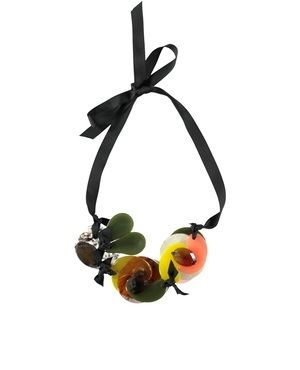 Nirginie Abstract Flowers Necklace by Essentiel