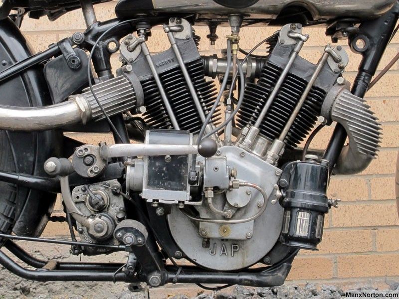 Motorcycle engine v twin