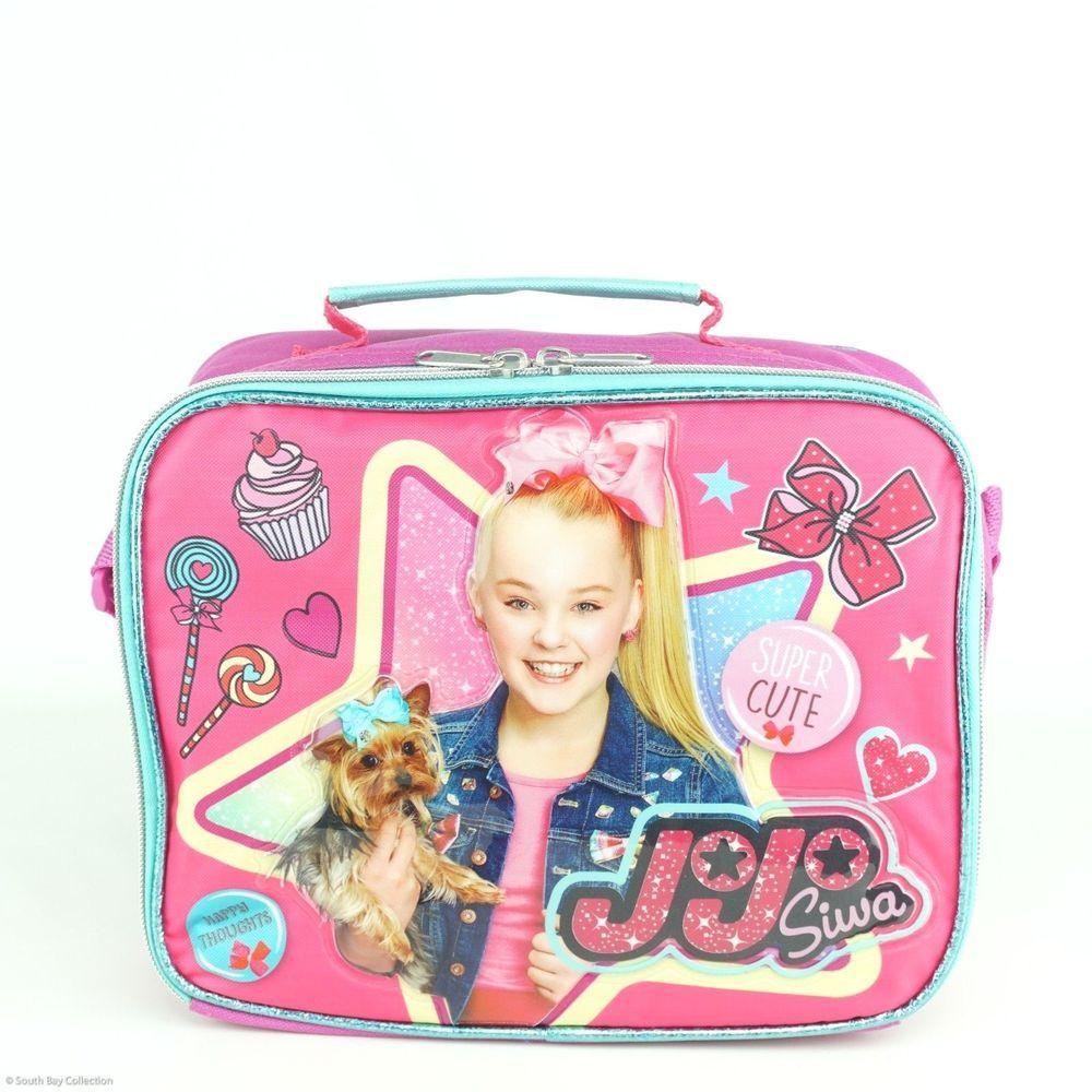 71e94da1b477 JoJo Siwa Girls Lunch Box Bag for Kids Happy Thoughts Cupcake Bows ...