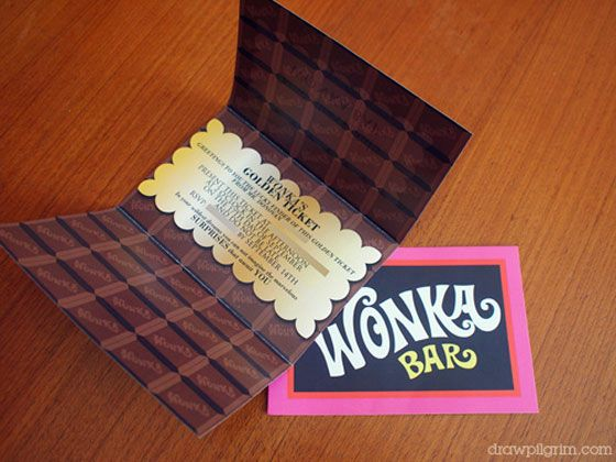 willy wonka invitations printable cute for save the dates