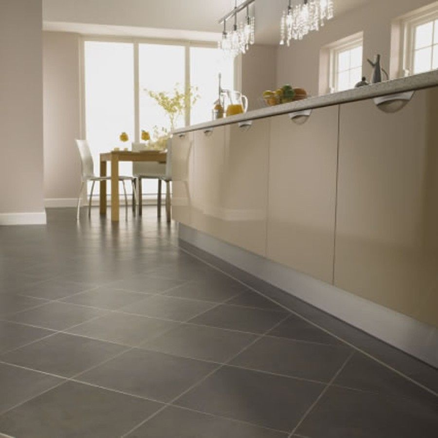 Kitchen Floor Vinyl Tiles Cream Kitchen Cabinets With Dark Countertops And Grey Floors